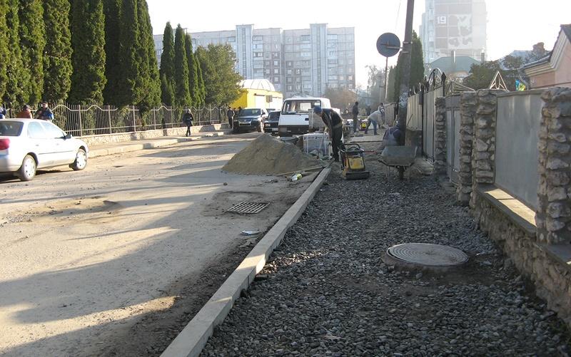 Завершити ремонт вул.Оболоня в Тернополі планують завтра
