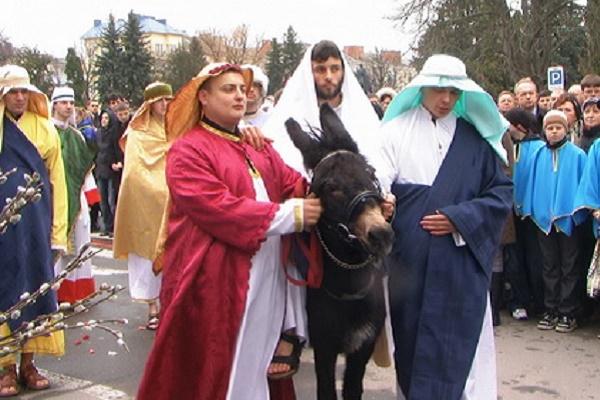 У Вербну неділю в Тернополі буде театралізований вхід до Єрусалиму (Відео)