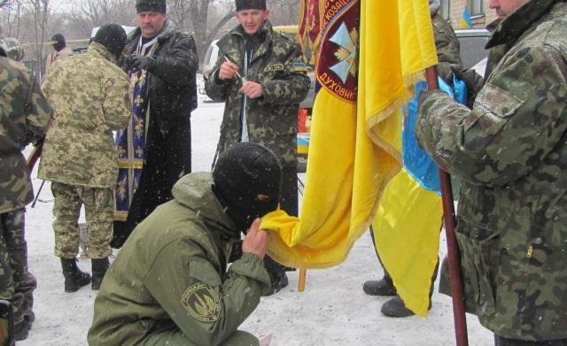 У зоні АТО з'явився перший в Україні козацький батальйон з Тернополя (ФОТО)